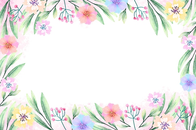 Watercolor flowers screensaver in pastel colors