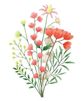 수채화 꽃 세트