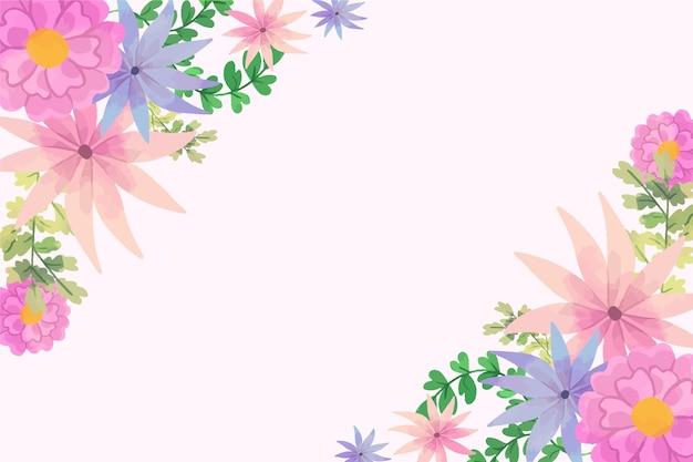 파스텔 색상 개념에 수채화 꽃 벽지