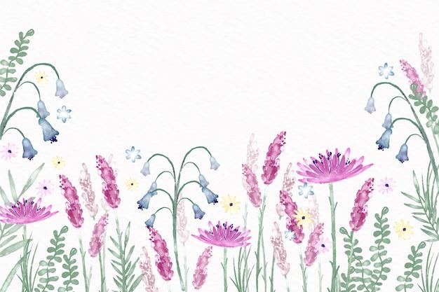 パステルカラーをテーマにした水彩画の花の壁紙