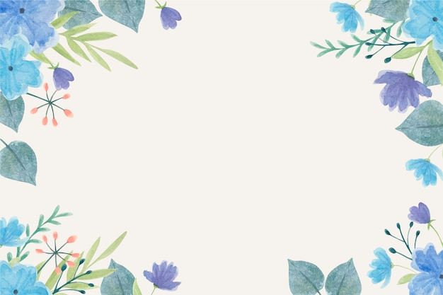 Watercolor flowers wallpaper in pastel colors
