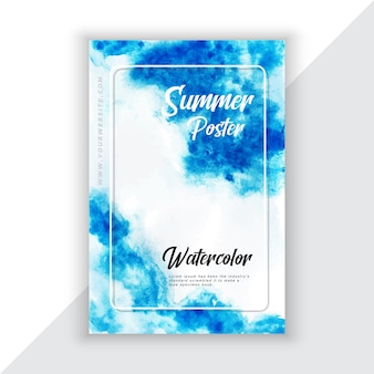 Watercolor flyer