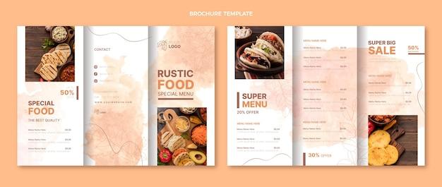 Watercolor food brochure