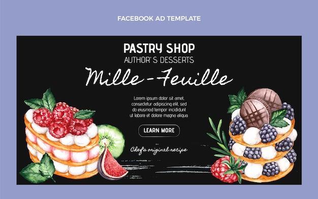 Watercolor food facebook template
