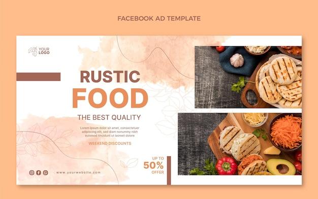 Акварельная еда facebook
