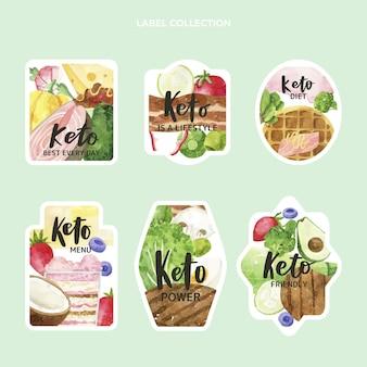 Watercolor food labels