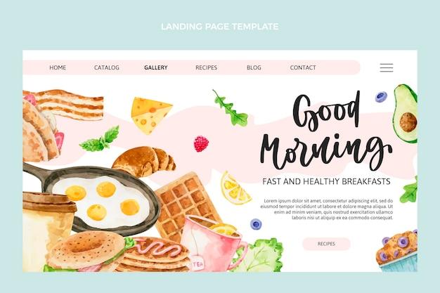 Watercolor food landing page