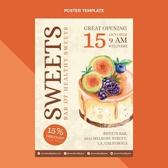 Watercolor food poster