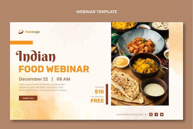 Progettazione di webinar sul cibo ad acquerello