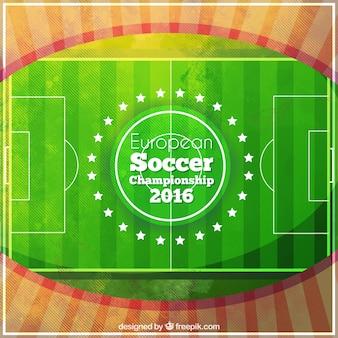 Акварели футбольный матч фоне чемпионата европы по футболу