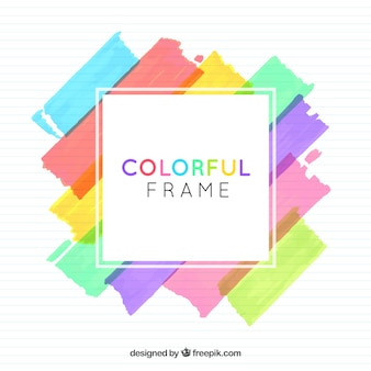 Watercolor frame background