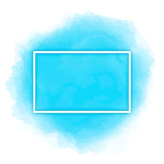 Watercolor frame in blue color