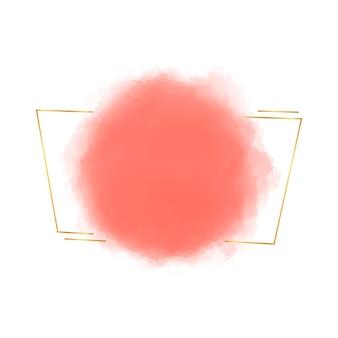 金色の線で水彩フレーム