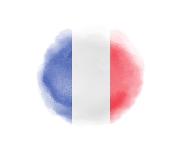 Watercolor france flag