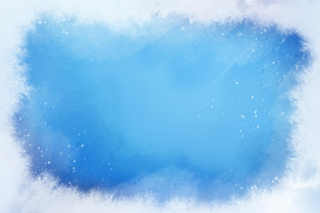 Watercolor frozen winter background