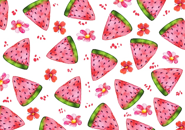 Watercolor fruit background