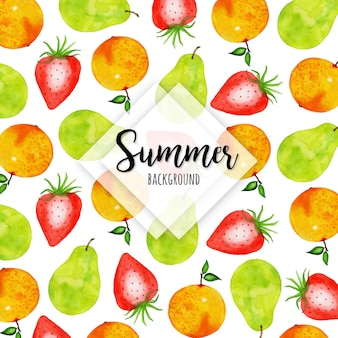Watercolor Fruits Multipurpose Background