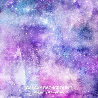 Акварельный фон галактики