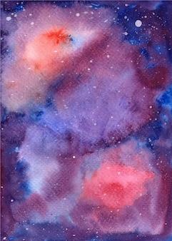 수채화 은하 공간 별이 빛나는 밤 배경