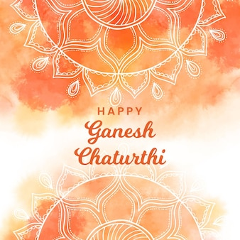 Watercolor ganesh chaturthi concept