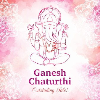 Watercolor ganesh chaturthi sale