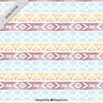 Watercolor geometric bands pattern