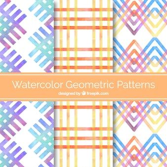 Watercolor geometric pattern