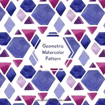 水彩色の幾何学模様