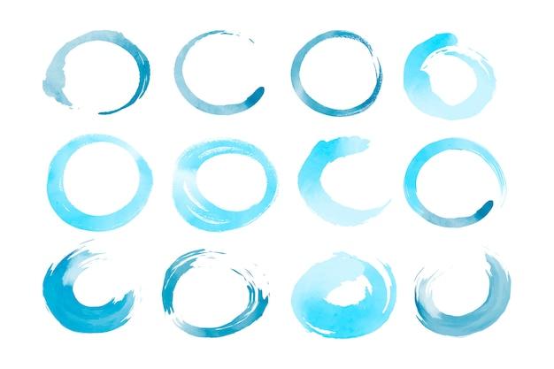 Watercolor geometric shapes vector set