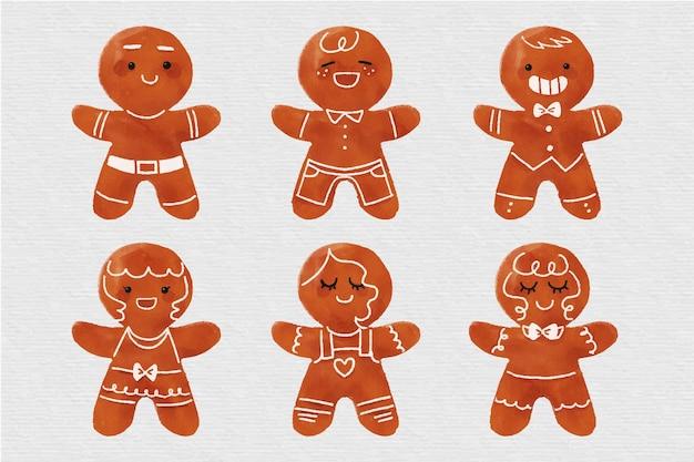 水彩ジンジャーブレッドマンクッキー