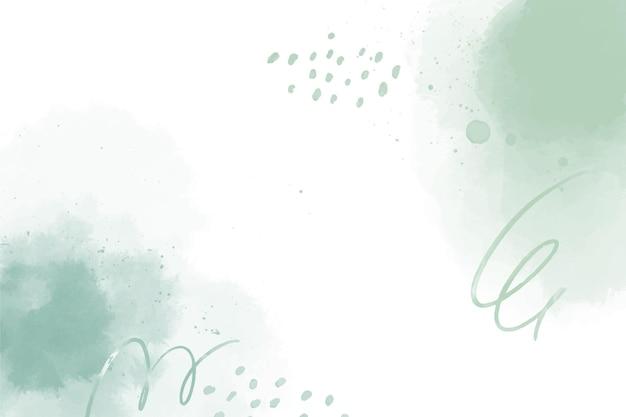 Sfondo di forme astratte verde acquerello