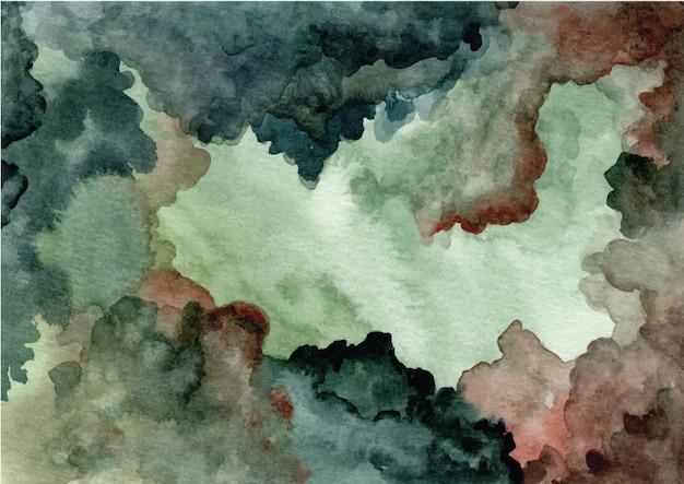 水彩の緑の抽象的なテクスチャ背景