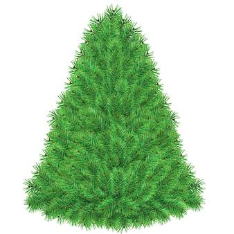 Watercolor green blank pine christmas tree template