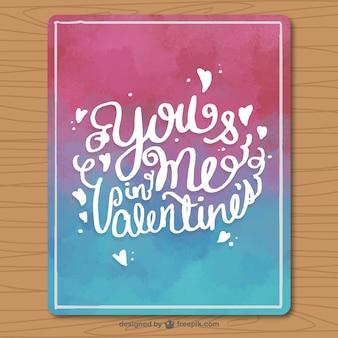 Акварели открытка готова ко дню святого валентина