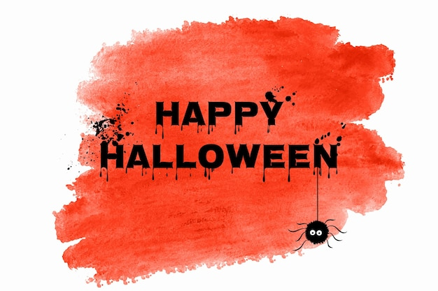 Watercolor halloween background