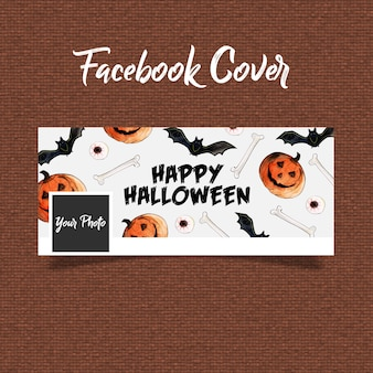 Watercolor halloween facebook cover