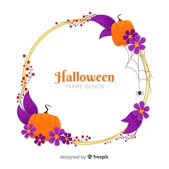 Watercolor halloween frame