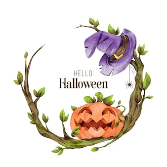 Cornice di halloween dell'acquerello