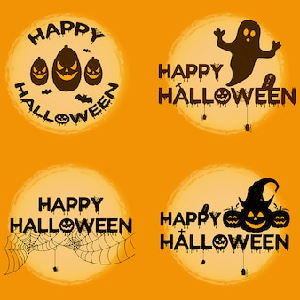 Watercolor halloween logo designs