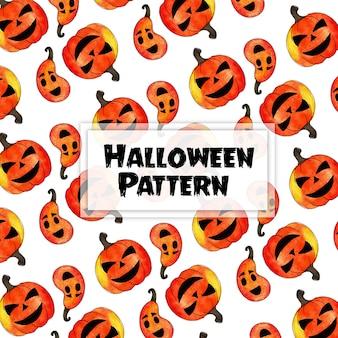 Watercolor halloween pattern background