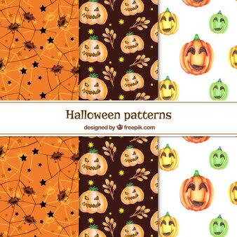 Disegni di halloween di acquerello