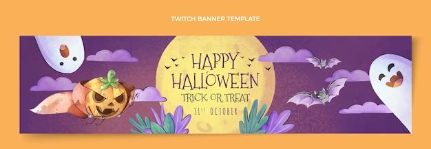 Шаблон обложки акварель хэллоуин twitch