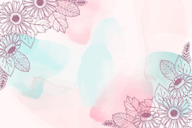Watercolor hand drawn background