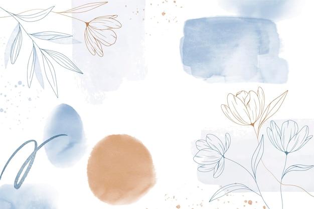 水彩手描きの背景