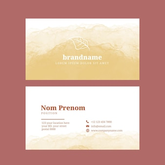 Watercolor hand drawn business cards