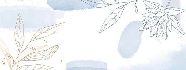Copertina facebook disegnata a mano ad acquerello