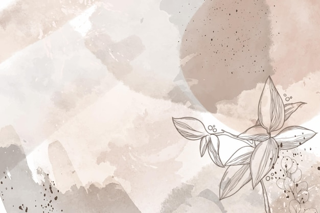 Watercolor hand drawn flowers background Free Vector