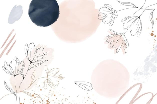 水彩の手描きの花の背景
