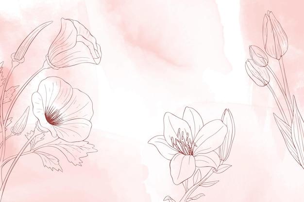 水彩手描きの自然の背景