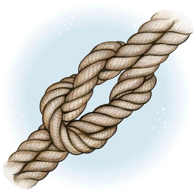 수채화 손으로 그려진 항해 매듭